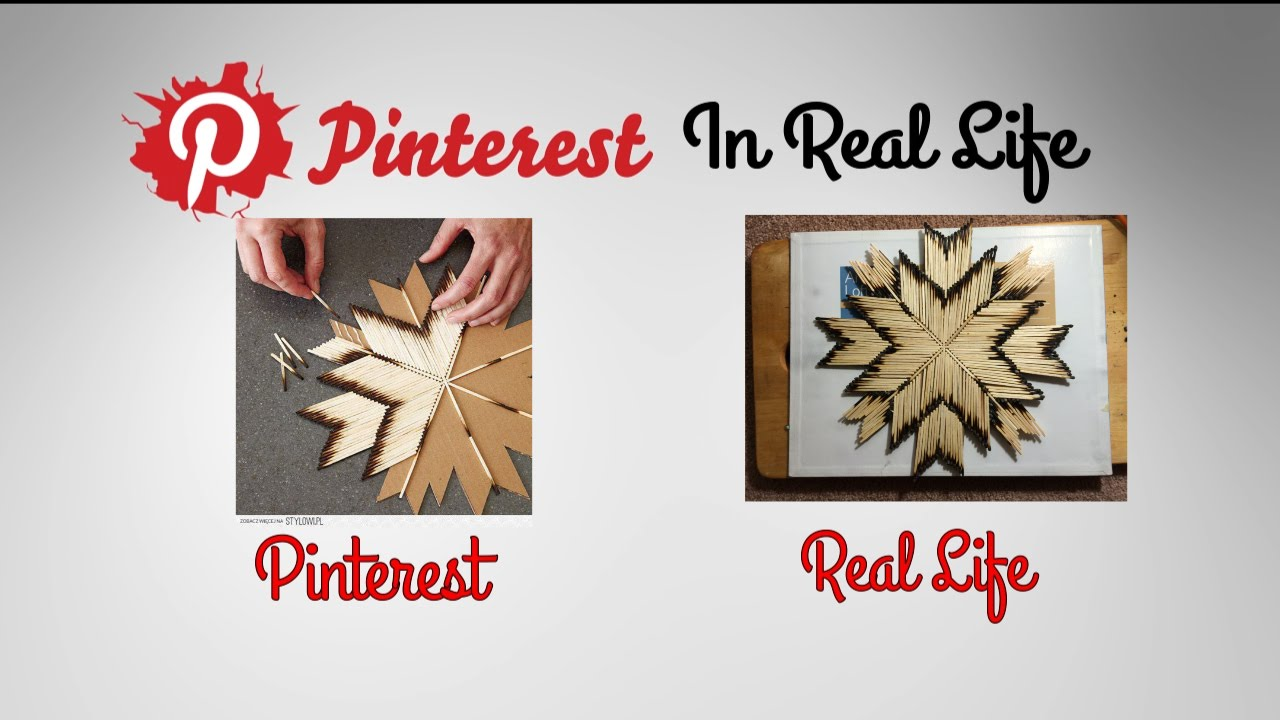 DIY Match Stick Art - Pinterest in Real Life