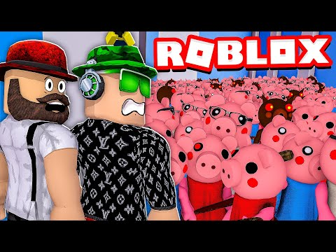CAN WE SURVIVE In ROBLOX PIGGY BUT WITH 100 PLAYERS