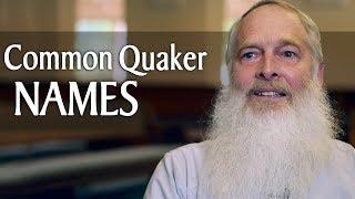 Common Quaker Names