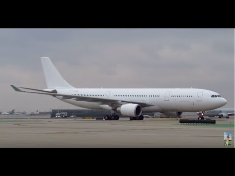 VERY RARE Hong Kong Jet Airbus A330-202 [VP-CBE] Landing & Taxiing at ORD [03.05.2016]