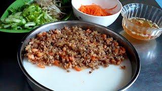 BÁNH ĐÚC ( Bánh mặn ) nhân tôm, thịt của Đậu Đỏ Trần
