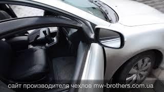 видео Чехлы для Тойоты Авенсис (ЭКОкожа + перфорация) чёрные кирпичи