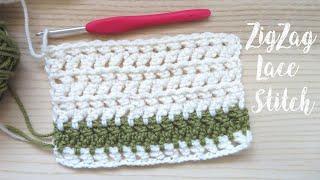 Zig Zag Lace Crochet Stitch