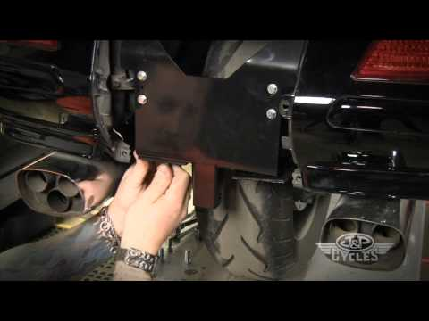 Install a Trailer Hitch and Wiring Harness on a Goldwing GL1800 • JPCYCLES.COM