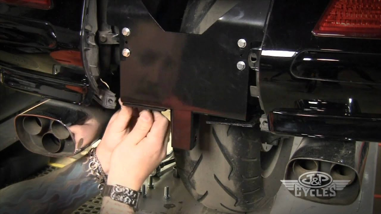 Install a Trailer Hitch and Wiring Harness on a Goldwing GL1800 • JPCYCLESCOM  YouTube
