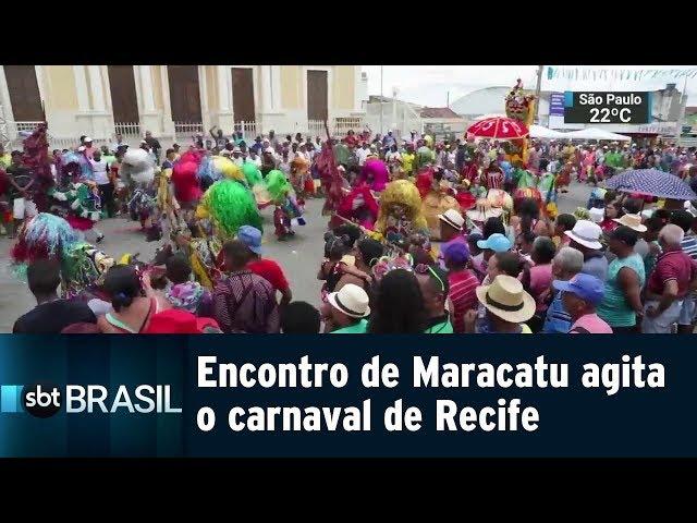 Encontro de Maracatu agita o carnaval de Recife | SBT Brasil (04/03/19)