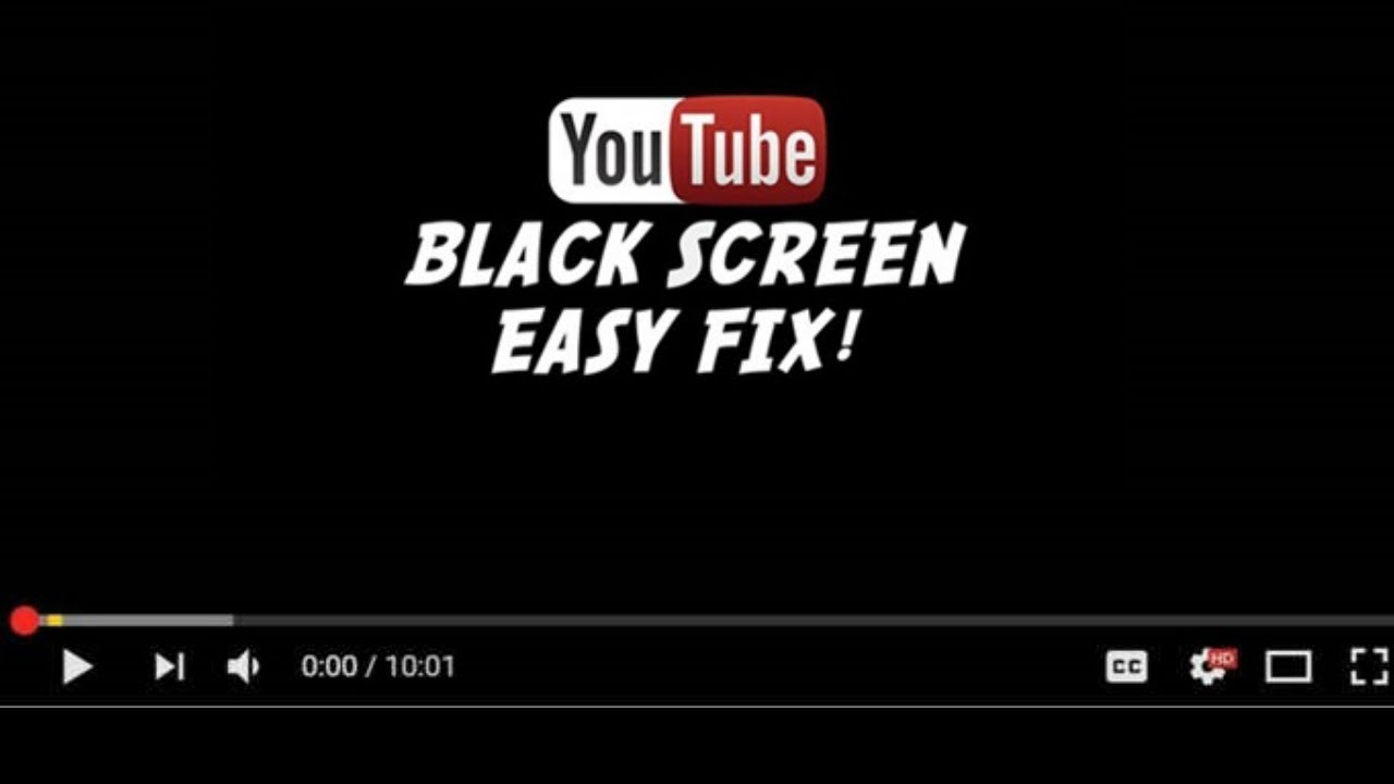 youtube keeps going black