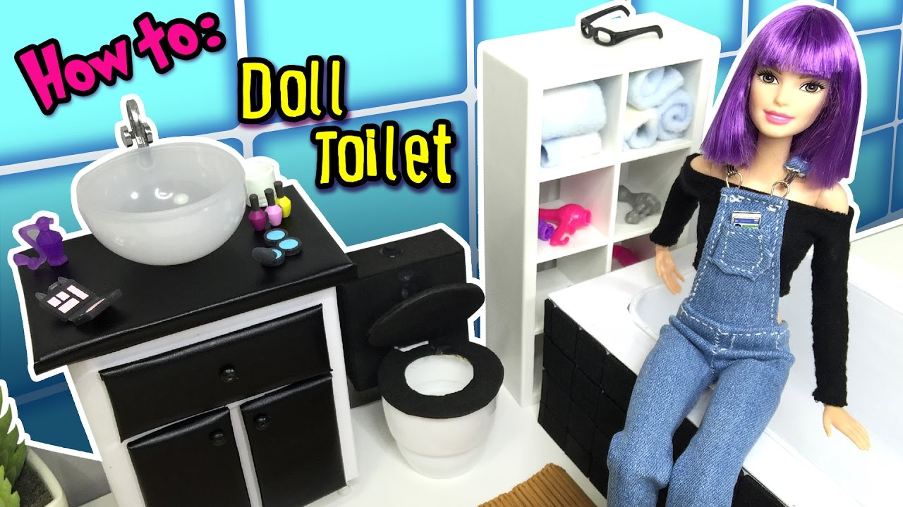 Diy How To Make A Toilet For Barbie Doll Dollhouse Miniatures