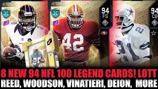 8 NEW 94 NFL 100 LEGENDS! 94 LOTT, WOODSON, REED, VINATIERI, AND MORE!   MADDEN 20 ULTIMATE TEAM