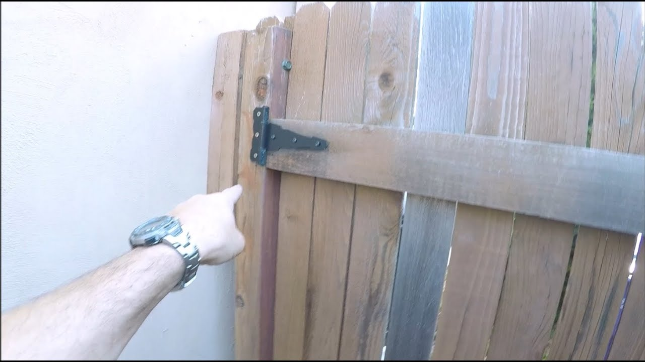 Fixing A Sagging Gate And Replacing A Fence Post The