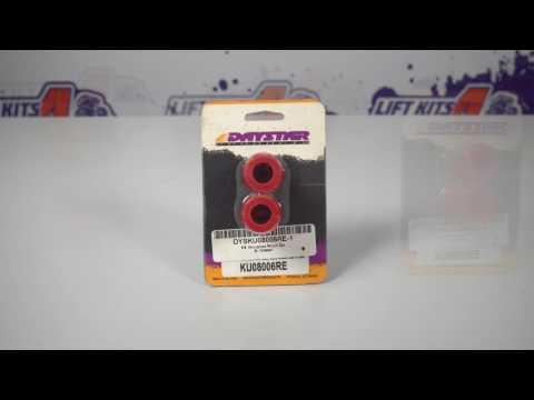 "DAYSTAR KU08006RE | RED SHOCK EYE BUSHING KIT  HOURGLASS  5/8"" ID"