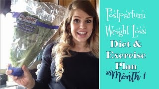 Postpartum Weight Loss Diet and Exercise Plan to Lose the Baby Weight Fast: Month 1