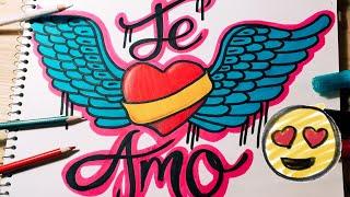 Como Dibujar Un Corazon Y Letras Te Amo Speed Drawing By Fer Art