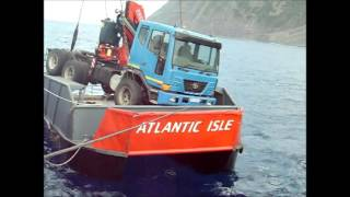 Truck Discharge Tristan da Cunha