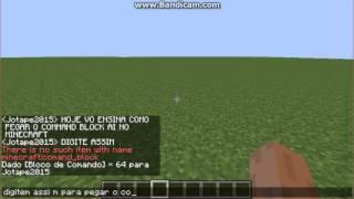 Como pegar o command block no minecraft