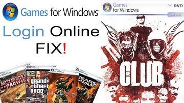 Games for Windows Live Online Login Fix!