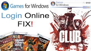 Games For Windows Live Online Login Fix!