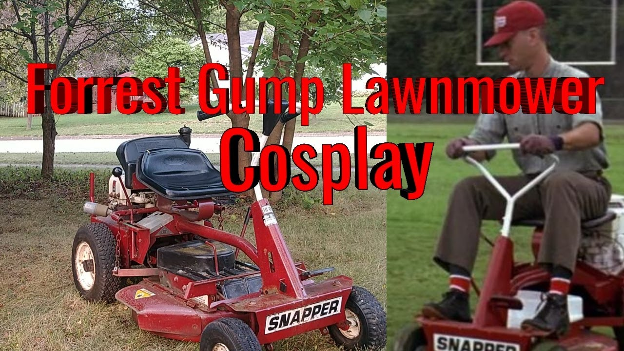 Forrest Gump Snapper Mower Cosplay For Halloween Youtube