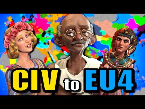 All CIV Nations Battle in an EU4 World (Civilization to Europa Universalis)