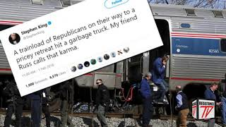 HORRIBLE: Stephen King se Alegra del Ataque al tren republicano en Virginia