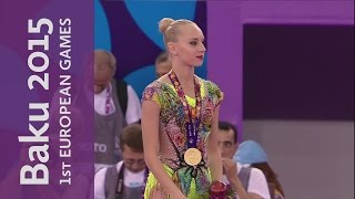 Yana Kudryavtseva performs superbly in the Individual Ball | Gymnastics Rhythmic | Baku 2015