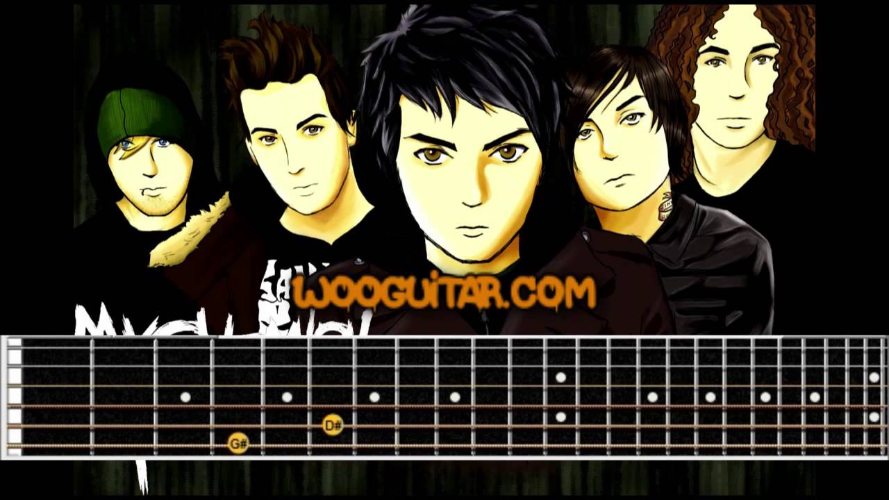 Helena My Chemical Romance Guitar Cover Lesson Youtube
