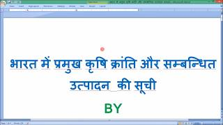 भारत की प्रमुख कृषि क्रांतियाँ पर्यावरण PART -04 by multi gyan station
