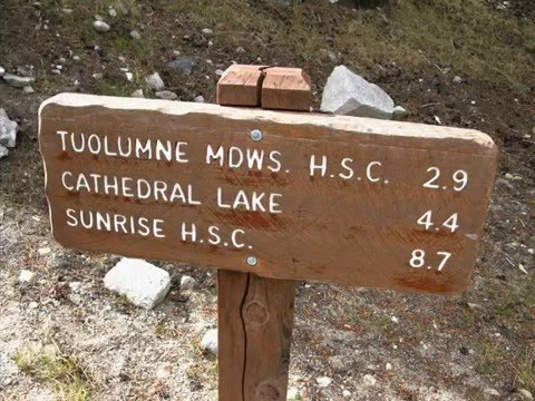 Tuolumne Meadows Backpacking to Cathedral Lake on John Muir Trail