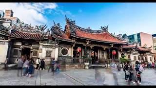 2017 12 23 台北夜景-萬華龍山寺(りゅうざんじ)紀錄(4K影片)-Longshan Temple is the spiritual heart of Taiwan #jeff0007