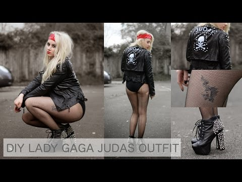 DIY // DIY LADY GAGA JUDAS OUTFIT FANCY DRESS / HALLOWEEN COSTUME