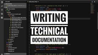 Writing technical documentation
