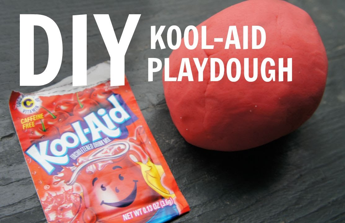How to Make Kool-Aid Playdough - no cream of tartar, no cooking recipe - YouTube