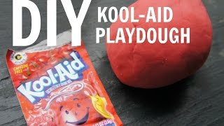 How to Make Kool-Aid Playdough - no cream of tartar, no cooking recipe