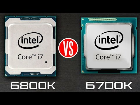 Intel Core i7 6800k vs Intel Core i7 6700k