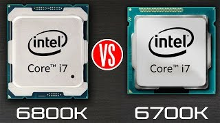 Intel Core i7 6800k vs Intel Core i7 6700k