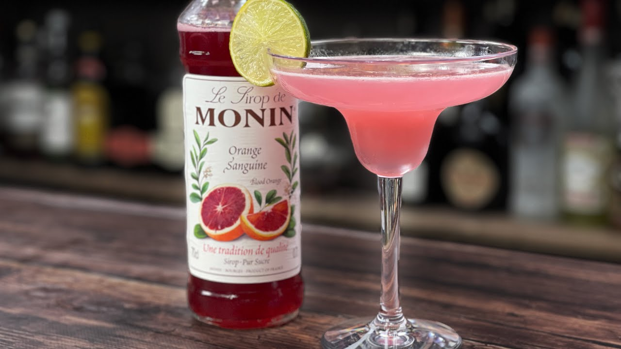 Blood Orange Drinks - TASTY Blood Orange Margarita with Monin Syrup