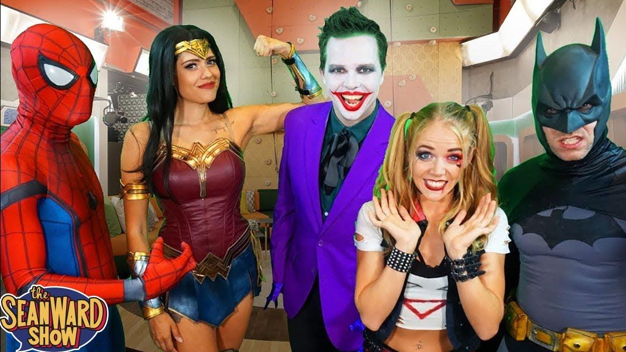 SUPERHERO BIG BROTHER! TV parody - Batman, Joker, Spider ...