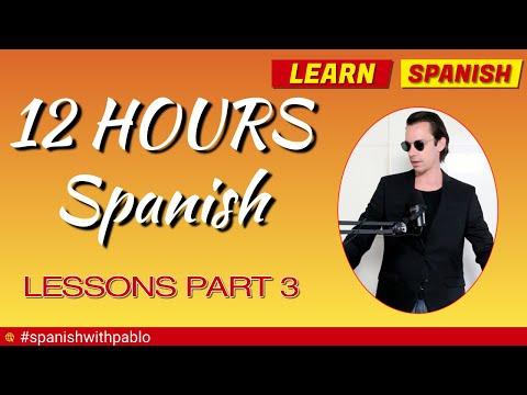 12 hours of Castilian Spanish Language tutorials ✔️😊🕙