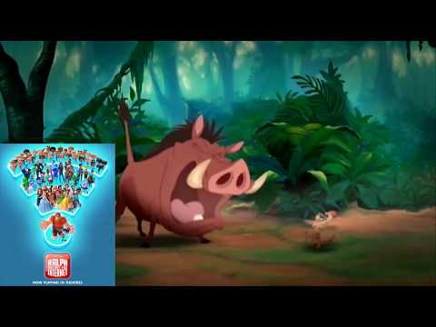 Disney Animated Movies Portrayed by Timon and Pumbaa