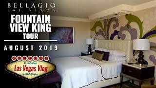 Bellagio Hotel & Casino Las Vegas (Fountain View King Room - 17066) Room Tour 14th August 2019