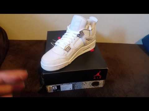 Pure Money 4s unboxing Footlocker/Nike.com