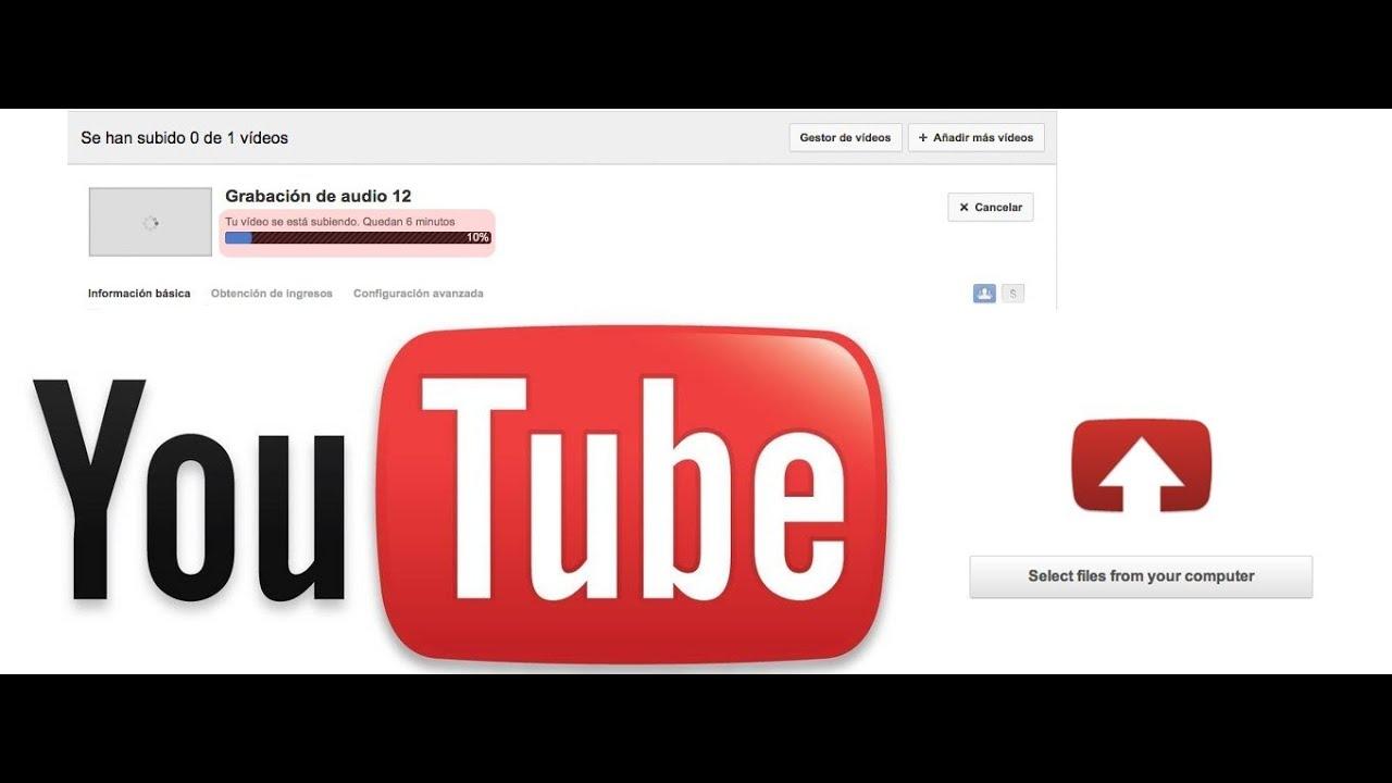Resultado de imagen para subir videos a youtube