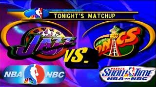 NBA Showtime: NBA on NBC PlayStation Gameplay - Seattle SuperSonics @ Utah Jazz
