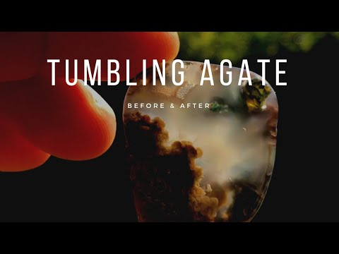 Rock Tumbling Agate & Chalcedony • Before & After