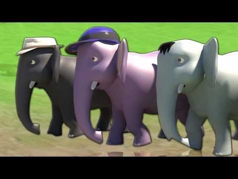 Ek Mota Hathi | 3D Rhyme In Hindi | एक मोटा हाथी | Hindi Rhyme | Kids Tv India | Hindi Nursery Rhyme