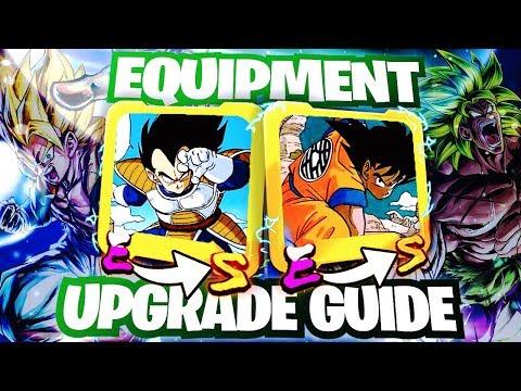 Dragon Ball Legends - How To Get BETTER Equipment! Upgrade Z/S/A Rank Guide