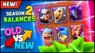 OLD vs NEW! Season 2 Balance Comparison | Clash Royale August Update Highlights