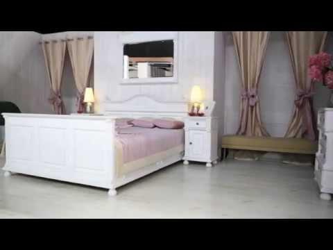 Schlafzimmermöbel Landhausmöbel Weiß Massiv-aus-Holz.de