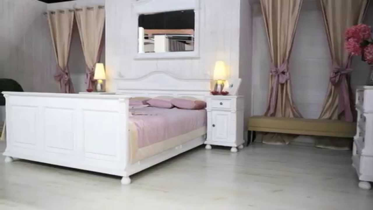 schlafzimmerm bel landhausm bel wei massiv aus youtube. Black Bedroom Furniture Sets. Home Design Ideas