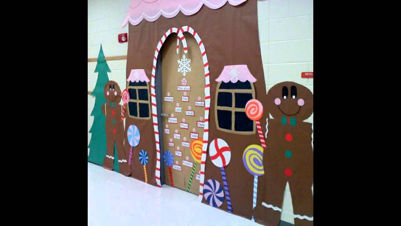Simple Classroom Door Decor ~ Creative winter door decorating ideas youtube